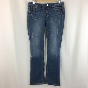Mossimo Distressed Boot Cut Jeans Fit 3 (8L)
